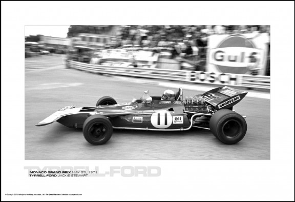 TYRRELL-FORD JACKIE STEWART – MONACO GRAND PRIX MAY 23, 1971