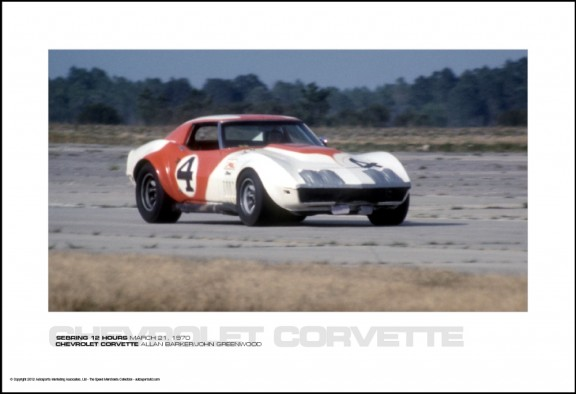 CHEVROLET CORVETTE ALLAN BARKER/JOHN GREENWOOD – SEBRING 12 HOURS MARCH 21, 1970