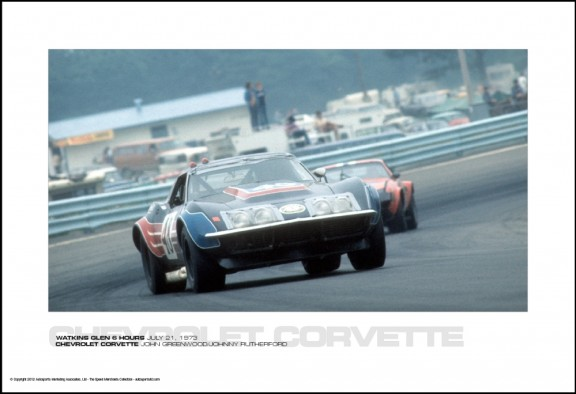 CHEVROLET CORVETTE JOHN GREENWOOD/JOHNNY RUTHERFORD – WATKINS GLEN 6 HOURS JULY 21, 1973