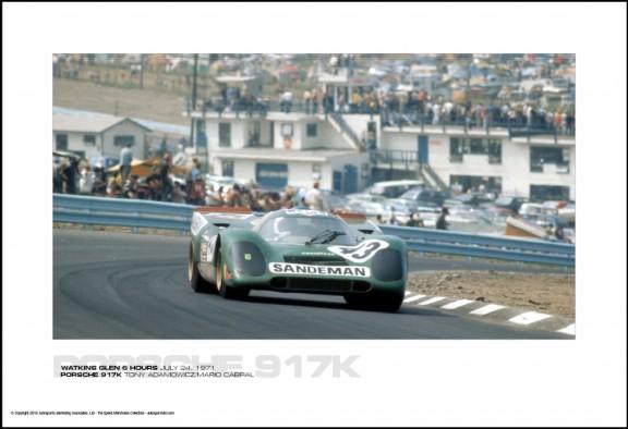 PORSCHE 917K TONY ADAMOWICZ/MARIO CABRAL – WATKINS GLEN 6 HOURS JULY 24, 1971
