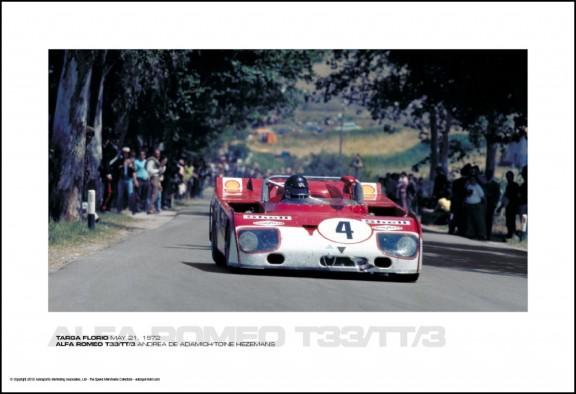 ALFA ROMEO T33/TT/3 ANDREA DE ADAMICH/TOINE HEZEMANS – TARGA FLORIO MAY 21, 1972