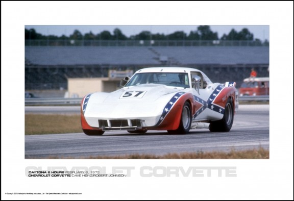 CHEVROLET CORVETTE DAVE HEINZ/ROBERT JOHNSON – DAYTONA 6 HOURS FEBRUARY 6, 1972