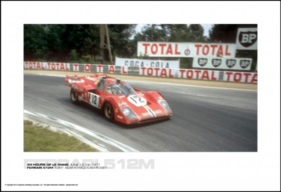 FERRARI 512M TONY ADAMOWICZ/SAM POSEY – 24 HOURS OF LE MANS JUNE 12-13, 1971
