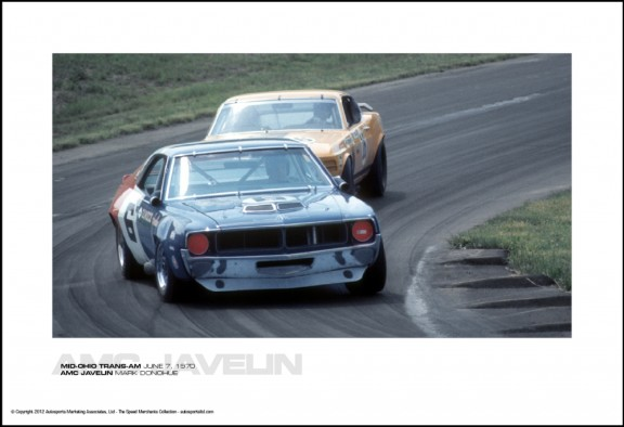 AMC JAVELIN MARK DONOHUE – MID-OHIO TRANS-AM JUNE 7, 1970