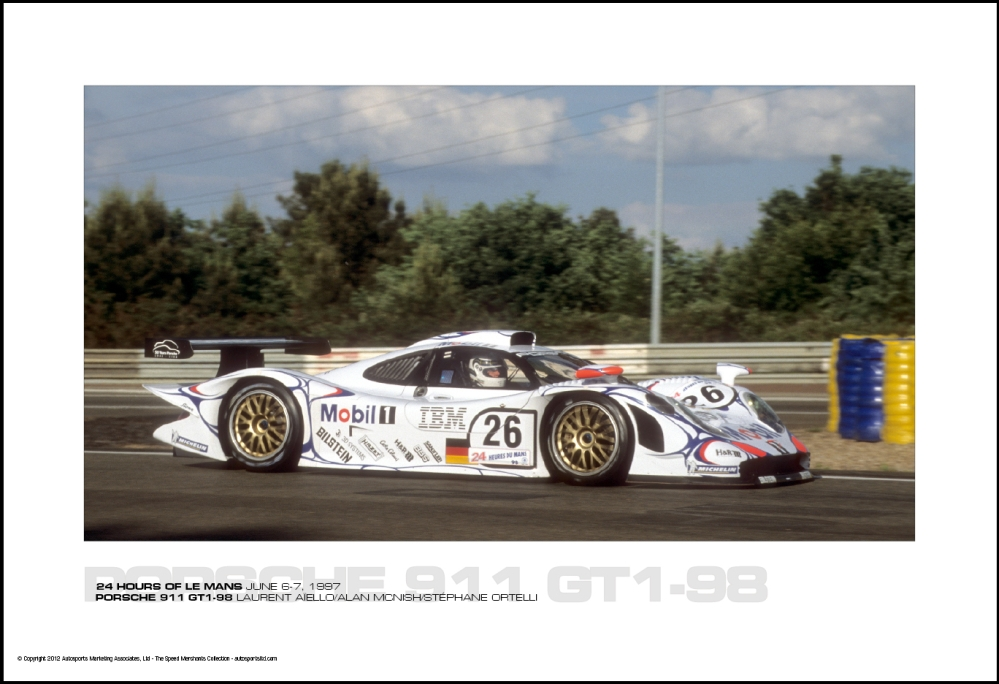 porsche 911 gt1 98 laurent a ello alan mcnish st phane ortelli 24 hours of le mans june 6 7. Black Bedroom Furniture Sets. Home Design Ideas