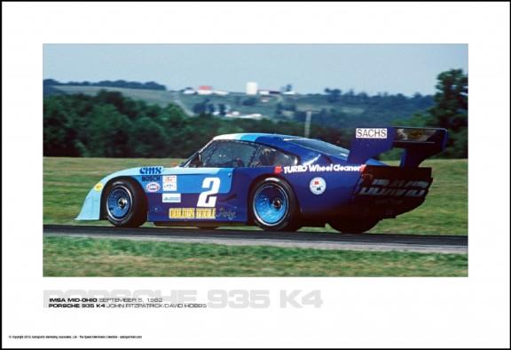 PORSCHE 935 K4 JOHN FITZPATRICK/DAVID HOBBS – IMSA MID-OHIO SEPTEMBER 5, 1982