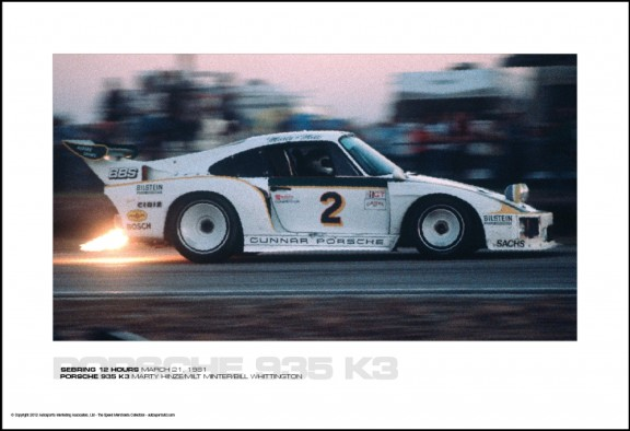 PORSCHE 935 K3 MARTY HINZE/MILT MINTER/BILL WHITTINGTON – SEBRING 12 HOURS MARCH 21, 1981