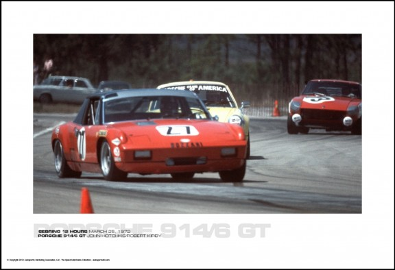 PORSCHE 914/6 GT JOHN HOTCHKIS/ROBERT KIRBY – SEBRING 12 HOURS MARCH 25, 1972