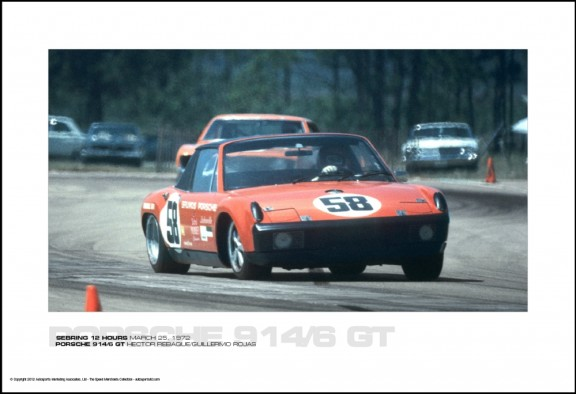 PORSCHE 914/6 GT HECTOR REBAQUE/GUILLERMO ROJAS – SEBRING 12 HOURS MARCH 25, 1972