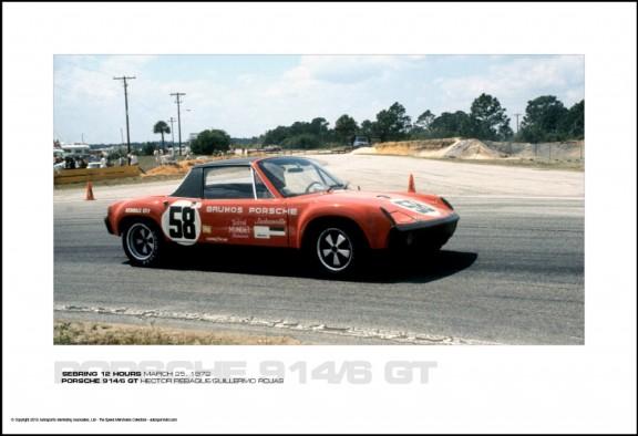 PORSCHE 914/6 GT HECTOR REBAQUE/GUILLERMO ROJAS – SEBRING 12 HOURS MARCH 25, 1972