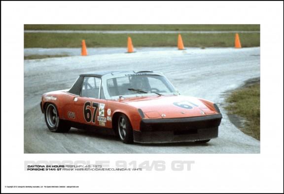 PORSCHE 914/6 GT FRANK HARMSTAD/DAVE MCCLAIN/DAVE WHITE – DAYTONA 24 HOURS FEBRUARY 4-5, 1973