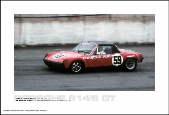 PORSCHE 914/6 GT PETER GREGG/HURLEY HAYWOOD – IMSA TALLEDEGA MAY 15, 1971
