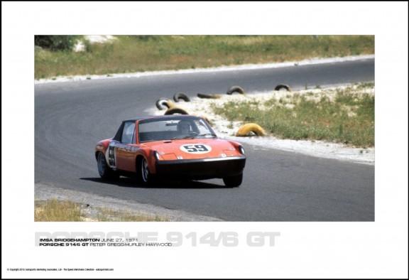 PORSCHE 914/6 GT PETER GREGG/HURLEY HAYWOOD – IMSA BRIDGEHAMPTON JUNE 27, 1971