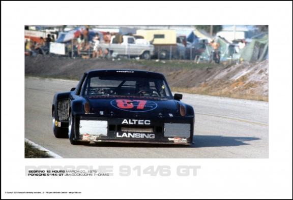 PORSCHE 914/6 GT JIM COOK/JOHN THOMAS – SEBRING 12 HOURS MARCH 20, 1976