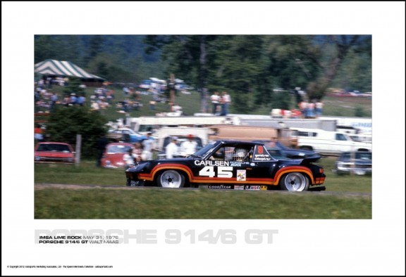 PORSCHE 914/6 GT WALT MAAS – IMSA LIME ROCK MAY 31, 1976