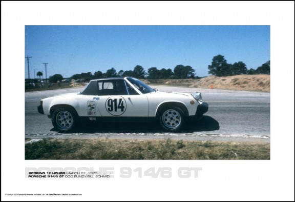 PORSCHE 914/6 GT DOC BUNDY/BILL SCHMID – SEBRING 12 HOURS MARCH 22, 1975