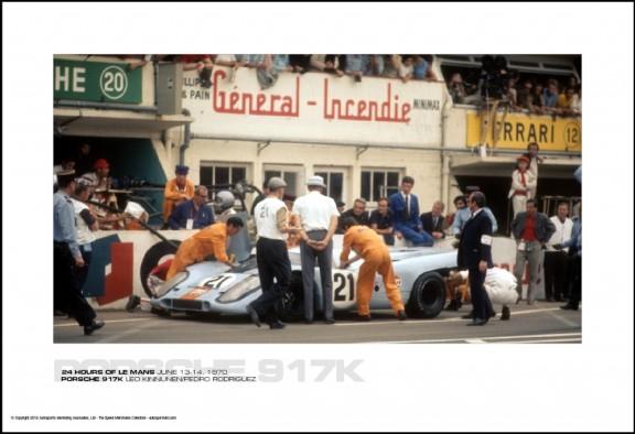 PORSCHE 917K LEO KINNUNEN/PEDRO RODRIGUEZ – 24 HOURS OF LE MANS JUNE 13-14, 1970