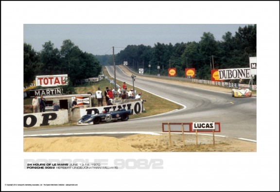 PORSCHE 908/2 HERBERT LINGE/JONATHAN WILLIAMS – 24 HOURS OF LE MANS JUNE 13-14, 1970