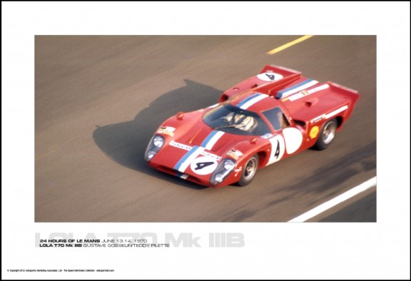 LOLA T70 Mk IIIB GUSTAVE GOSSELIN/TEDDY PILETTE – 24 HOURS OF LE MANS JUNE 13-14, 1970