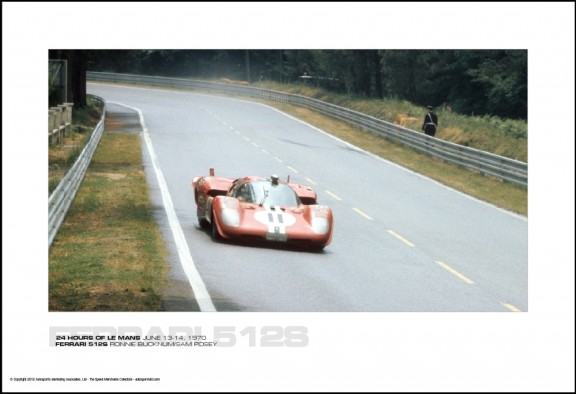 FERRARI 512S RONNIE BUCKNUM/SAM POSEY – 24 HOURS OF LE MANS JUNE 13-14, 1970
