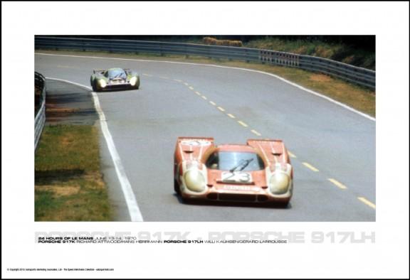 PORSCHE 917K RICHARD ATTWOOD/HANS HERRMANN PORSCHE 917LH WILLI KAUHSEN/G