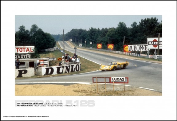 FERRARI 512S HUGHES DE FIERLANDT/ALISTAIR WALKER – 24 HOURS OF LE MANS JUNE 13-14, 1970