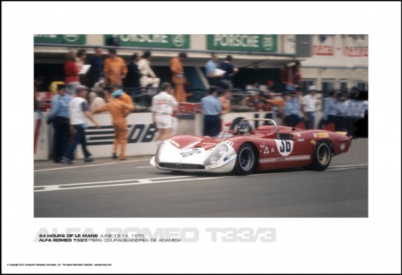 ALFA ROMEO T33/3 PIERS COURAGE/ANDREA DE ADAMICH – 24 HOURS OF LE MANS JUNE 13-14, 1970