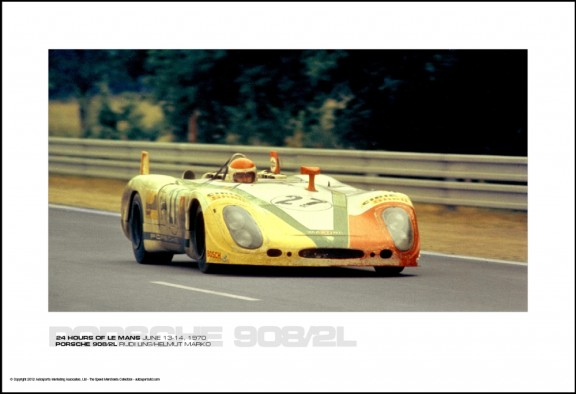 PORSCHE 908/2L RUDI LINS/HELMUT MARKO – 24 HOURS OF LE MANS JUNE 13-14, 1970