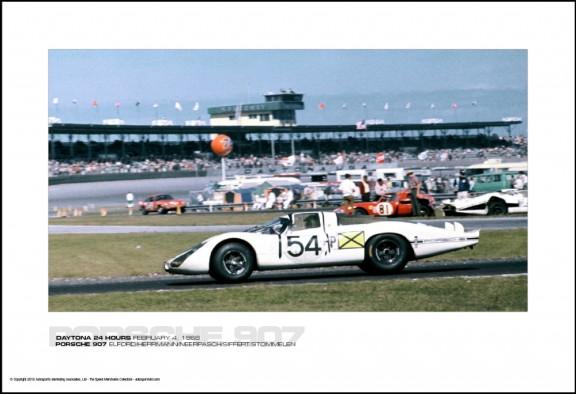 PORSCHE 907 ELFORD/HERRMANN/NEERPASCH/SIFFERT/STOMMELEN – DAYTONA 24 HOURS FEBRUARY 4, 1968