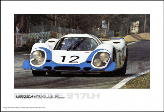 PORSCHE 917LH RICHARD ATTWOOD/VIC ELFORD – 24 HOURS OF LE MANS JUNE 14-15, 1969
