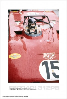 FERRARI 312PB JACKY ICKX/CLAY REGAZZONI – MONZA 1000 KMS APRIL 25, 1971