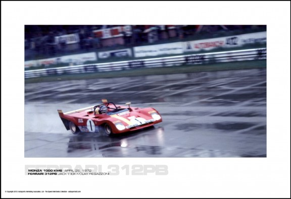 FERRARI 312PB JACKY ICKX/CLAY REGAZZONI – MONZA 1000 KMS  APRIL 25, 1972