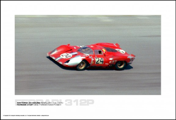 FERRARI 312P MIKE PARKES/SAM POSEY – DAYTONA 24 HOURS FEBRUARY 1-2, 1970