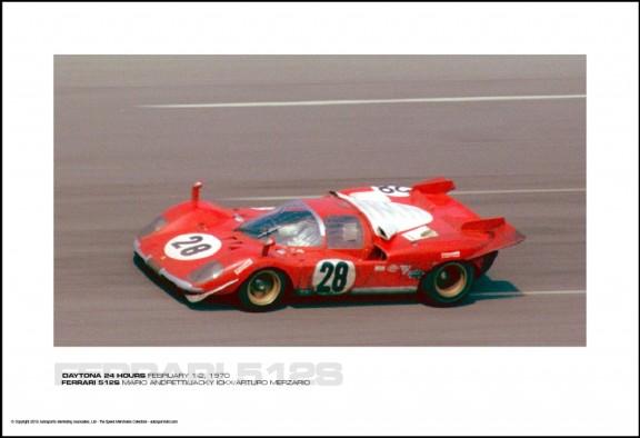 FERRARI 512S MARIO ANDRETTI/JACKY ICKX/ARTURO MERZARIO – DAYTONA 24 HOURS FEBRUARY 1-2, 1970