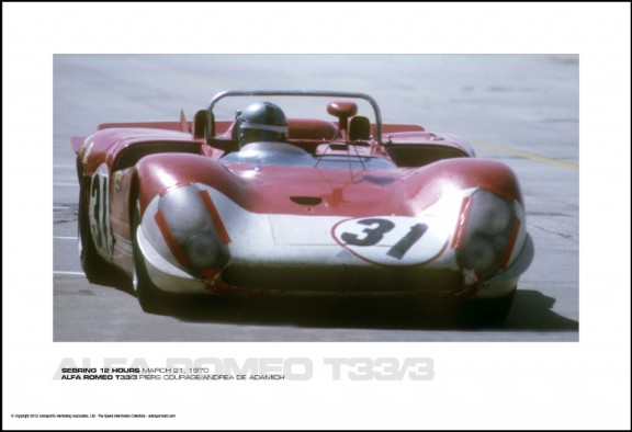 ALFA ROMEO T33/3 PIERS COURAGE/ANDREA DE ADAMICH – SEBRING 12 HOURS MARCH 21, 1970