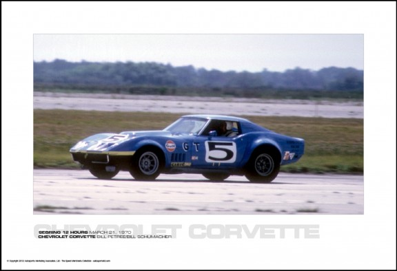 CHEVROLET CORVETTE BILL PETREE/BILL SCHUMACHER – SEBRING 12 HOURS MARCH 21, 1970