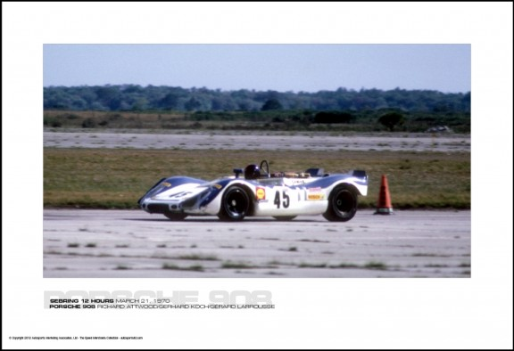 PORSCHE 908 RICHARD ATTWOOD/GERHARD KOCH/G