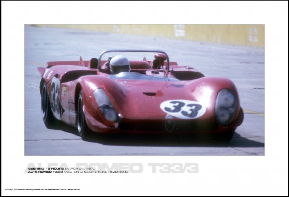 ALFA ROMEO T33/3 MASTEN GREGORY/TOINE HEZEMANS – SEBRING 12 HOURS MARCH 21, 1970