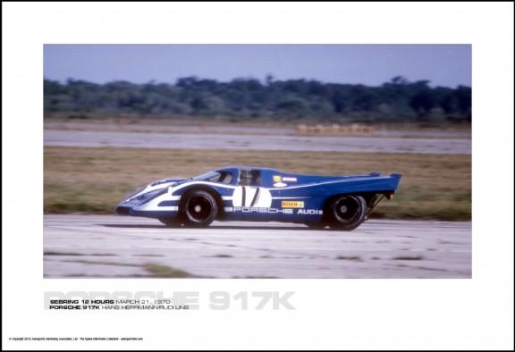 PORSCHE 917K HANS HERRMANN/RUDI LINS – SEBRING 12 HOURS MARCH 21, 1970