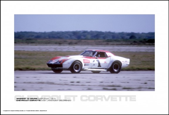 CHEVROLET CORVETTE DICK LANG/TONY DELORENZO – SEBRING 12 HOURS MARCH 21, 1970