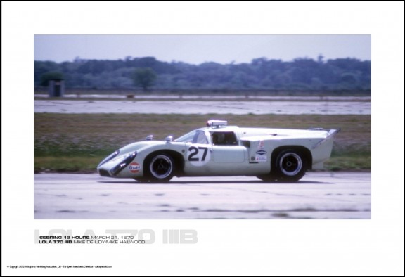 LOLA T70 IIIB MIKE DE UDY/MIKE HAILWOOD – SEBRING 12 HOURS MARCH 21, 1970