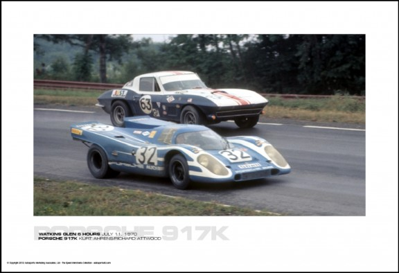 PORSCHE 917K KURT AHRENS/RICHARD ATTWOOD – WATKINS GLEN 6 HOURS JULY 11, 1970