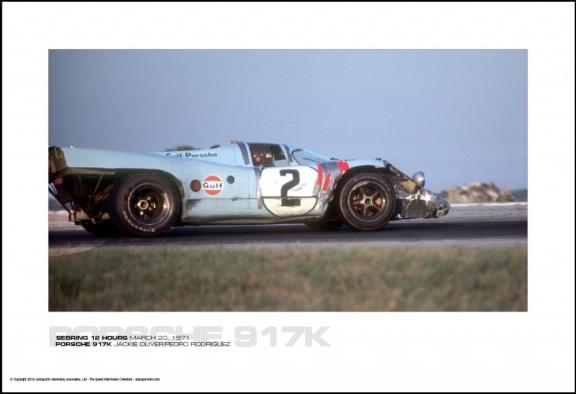 PORSCHE 917K JACKIE OLIVER/PEDRO RODRIGUEZ – SEBRING 12 HOURS MARCH 20, 1971