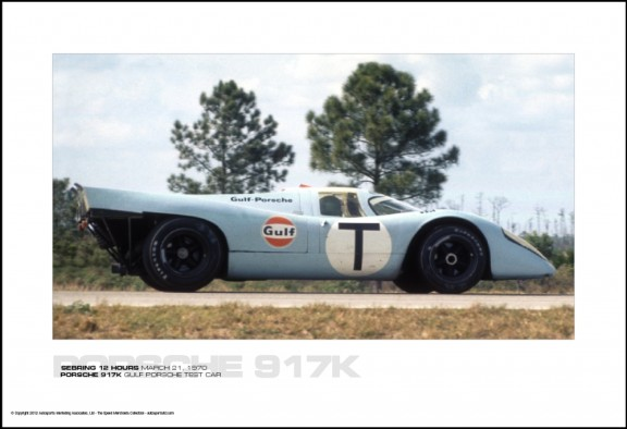 PORSCHE 917K GULF PORSCHE TEST CAR – SEBRING 12 HOURS MARCH 21, 1970