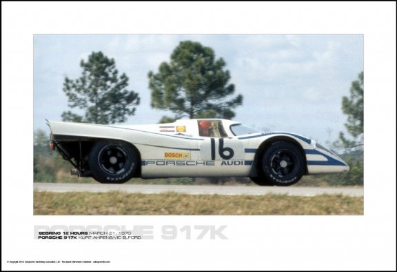 PORSCHE 917K KURT AHRENS/VIC ELFORD – SEBRING 12 HOURS MARCH 21, 1970