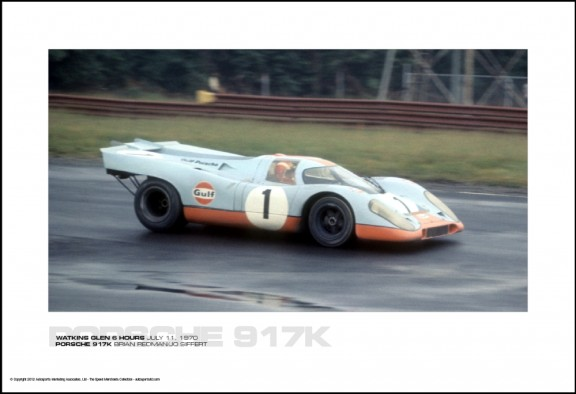PORSCHE 917K BRIAN REDMAN/JO SIFFERT – WATKINS GLEN 6 HOURS JULY 11, 1970