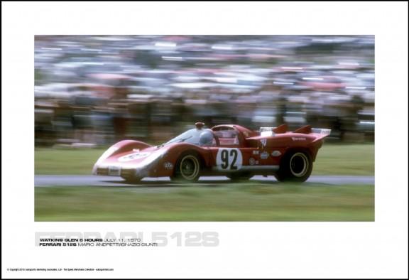 FERRARI 512S MARIO ANDRETTI/IGNAZIO GIUNTI – WATKINS GLEN 6 HOURS JULY 11, 1970