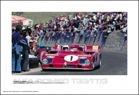 ALFA ROMEO T33/TT/3 ROLF STOMMELEN/NINO VACCARELLA – TARGA FLORIO MAY 21, 1972