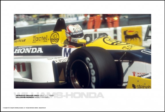 WILLIAMS-HONDA NIGEL MANSELL – MONACO GRAND PRIX MAY 11, 1986