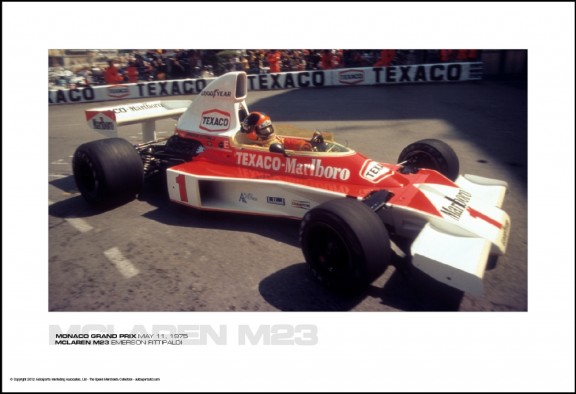 MCLAREN M23 EMERSON FITTIPALDI – MONACO GRAND PRIX MAY 11, 1975